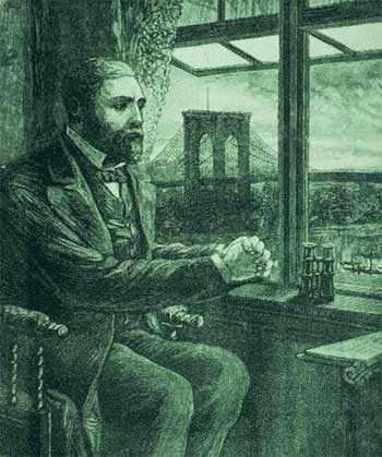 Roebling by his window