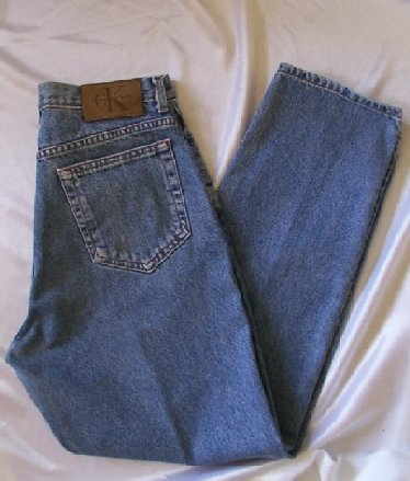 A pair of designer jeans