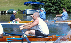 Rowing in progress