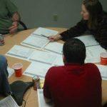 Critique meeting in progress